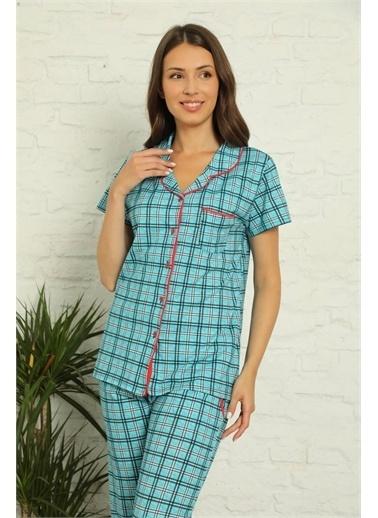 Akbeniz Pijama Takım Mavi